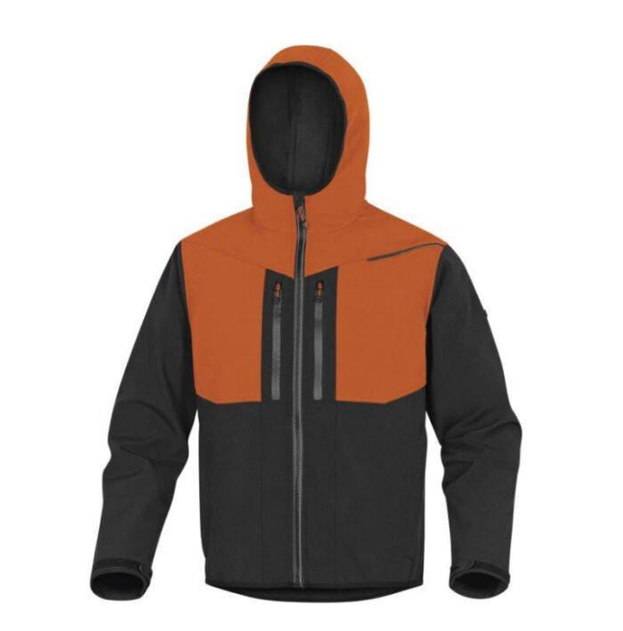 delta plus horten softshell 3 lagen jack oranje, zwart