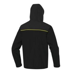 delta plus horten softshell 3 lagen jack zwart geel 2