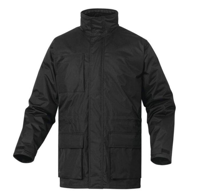 delta plus isola parka jas pongee polyester zwart