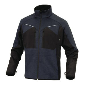 delta plus mach sportief fleece jas blauw
