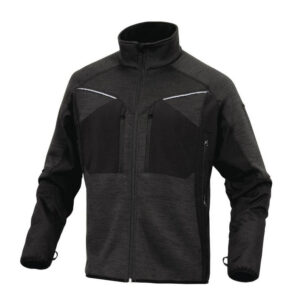 delta plus mach sportief fleece jas grijs