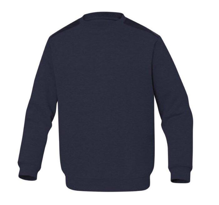 delta plus olino molton sweater blauw