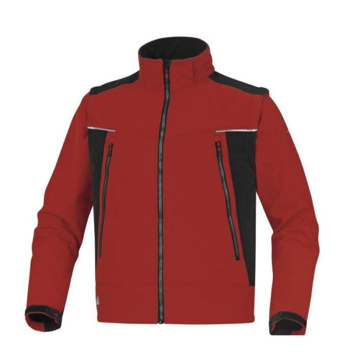 delta plus orsa softshell 3 lagen jas rood