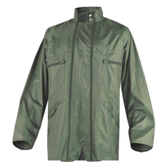delta plus regenoverall dubbel rits polyester + pvc coating groen 2
