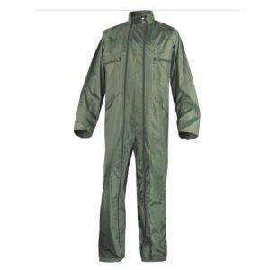 delta plus regenoverall dubbel rits polyester + pvc coating groen