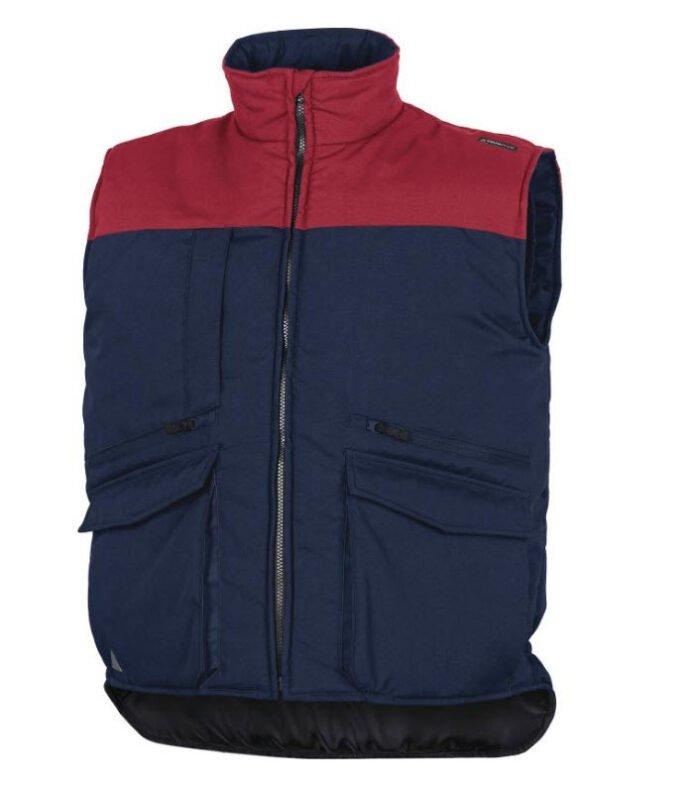 delta plus siera bodywarmer veel zakken blauw rood