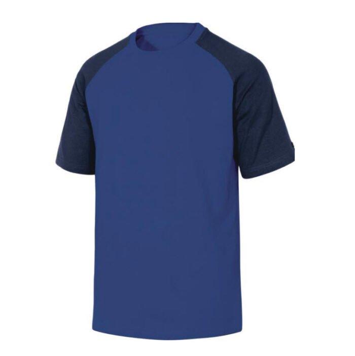delta plus t shirt korte mouw katoen blauw marine