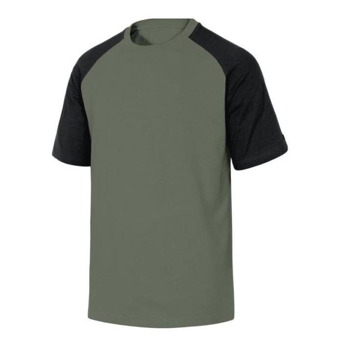 delta plus t shirt korte mouw katoen grijs zwart