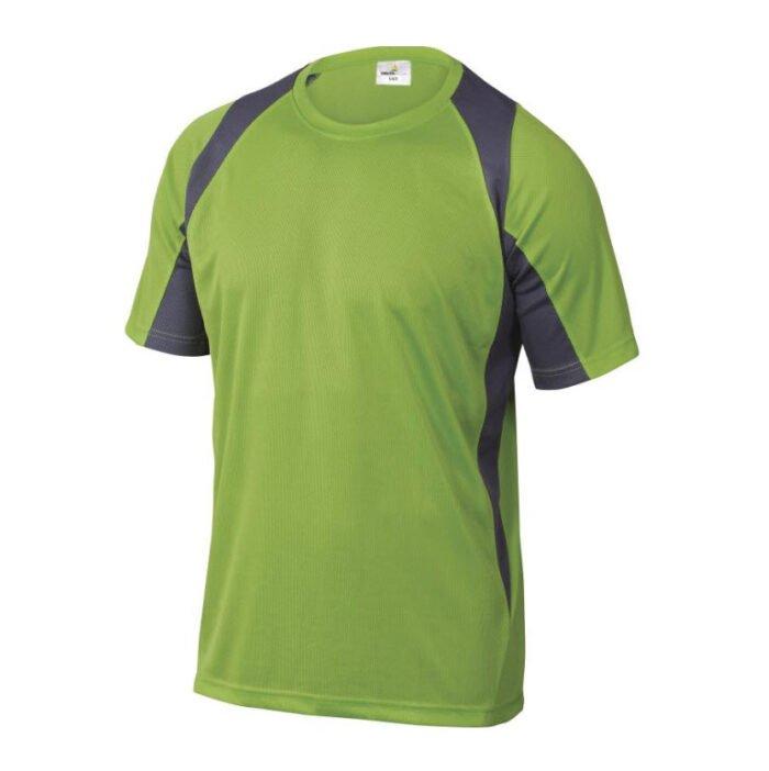 delta plus t shirt korte mouw polyester groen grijs