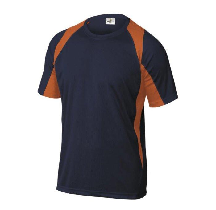 delta plus t shirt korte mouw polyester marine oranje