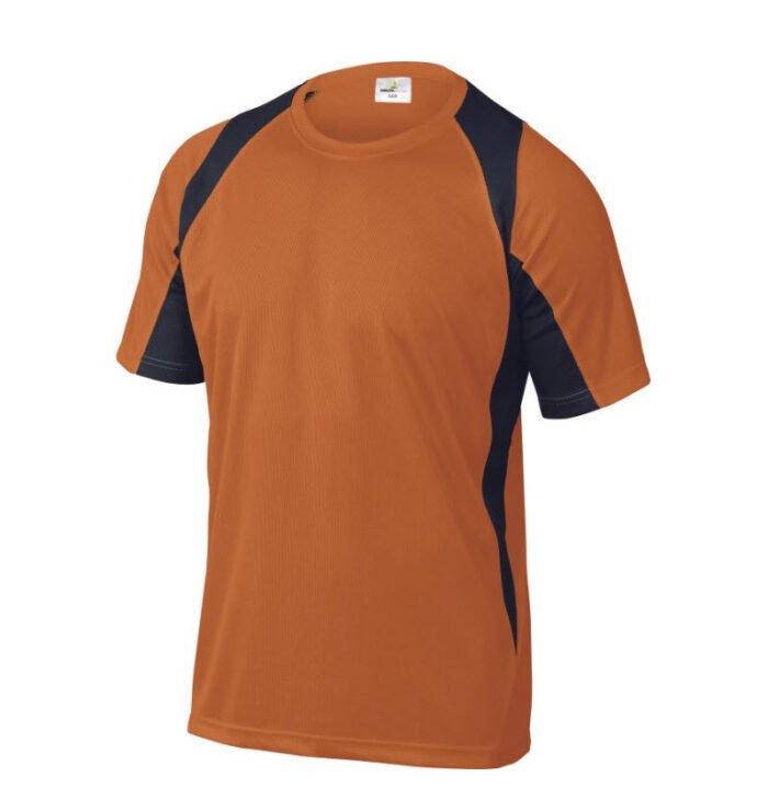 delta plus t shirt korte mouw polyester oranje zwart