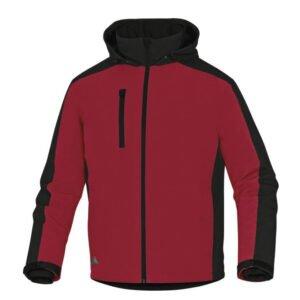 delta plus vigo parka kort model rood zwart