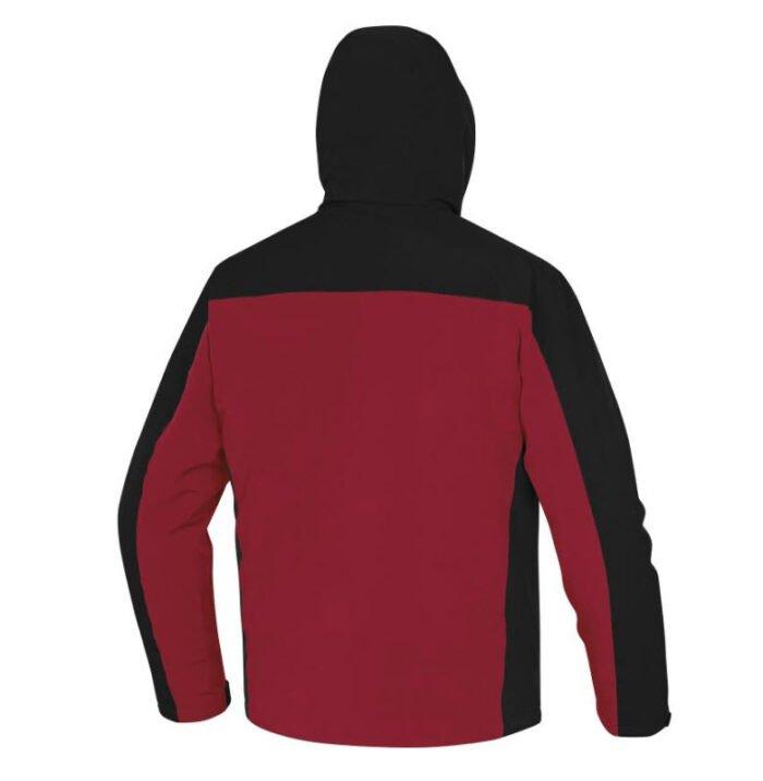 delta plus vigo parka kort model zwart rood b