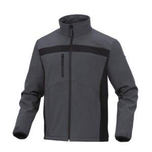 delta plus lichte softshell elasthaan jas grijs