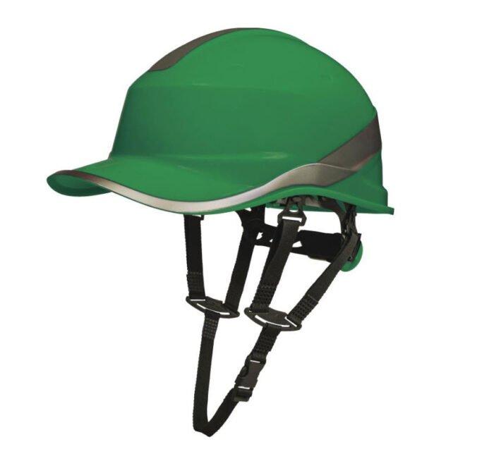 delta plus opzichtershelm pet met kinriem groen