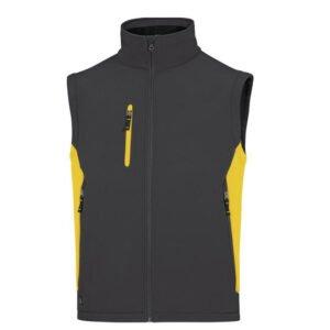 delta plus softshell afneembare mouwen zwart geel 3
