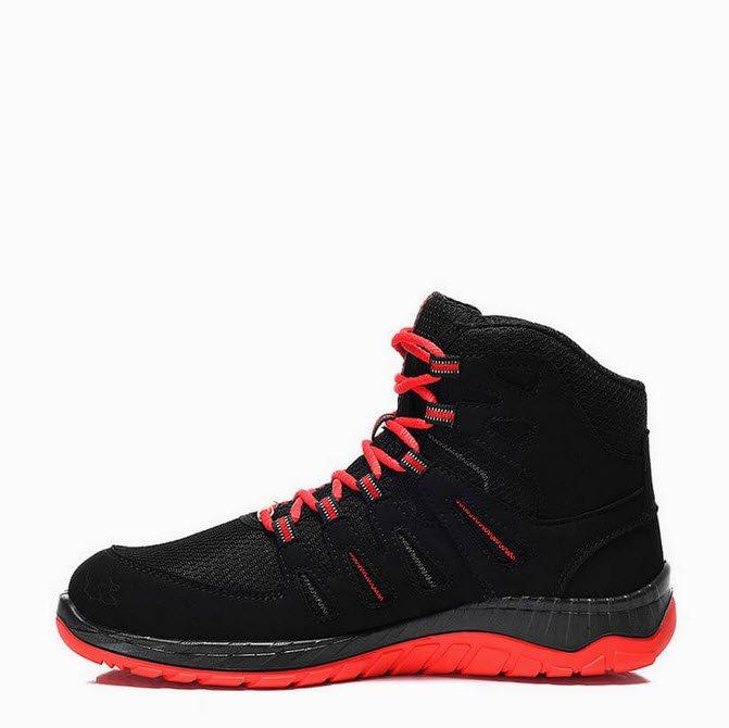 elten maddox zwart rood hoge werkschoen s3 esd b