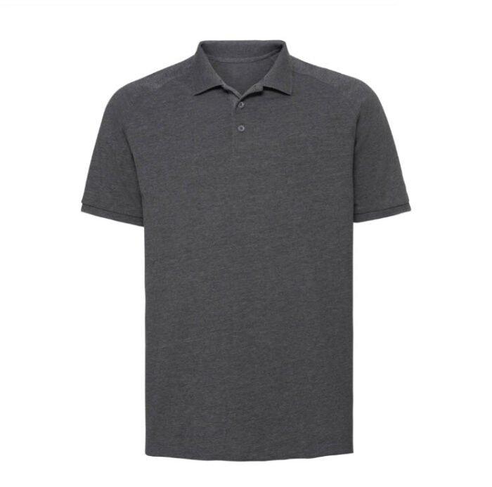 Russell HD Raglan Polo-shirt 180g-m2 Donker grijs