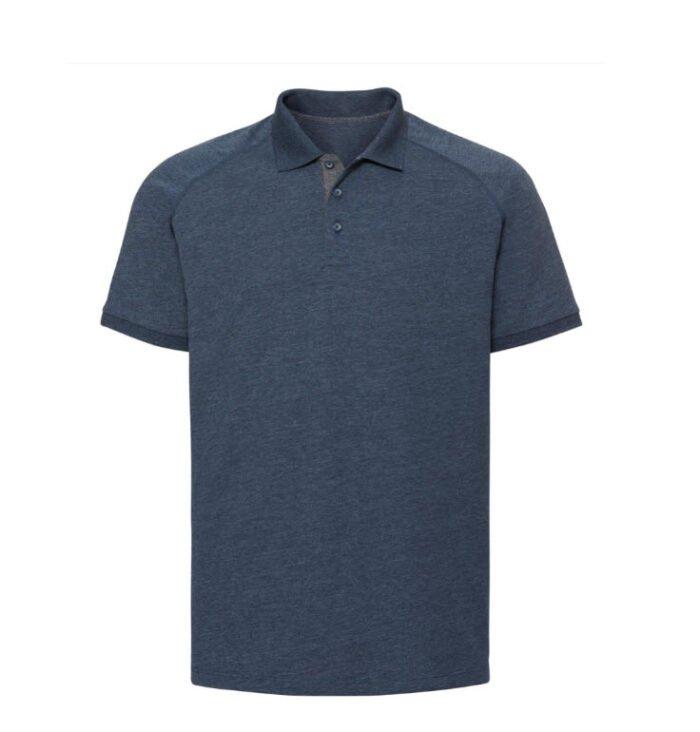 Russell HD Raglan Polo-shirt 180g-m2 marine