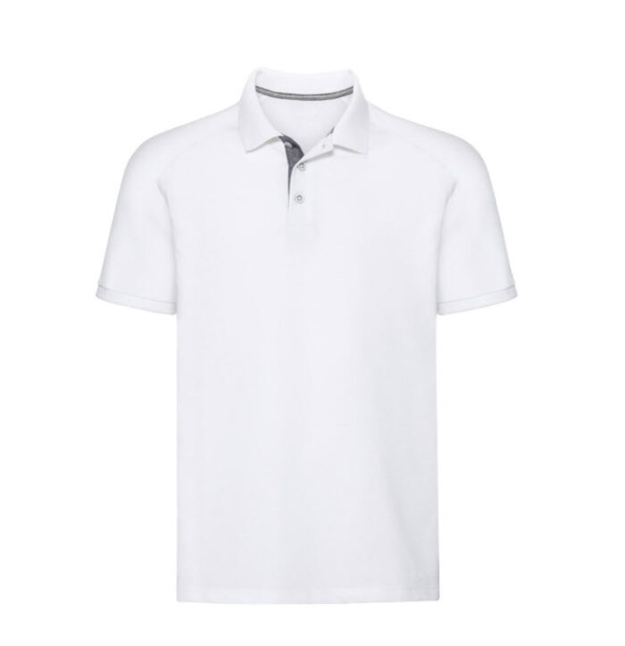 Russell HD Raglan Polo-shirt 180g-m2 wit