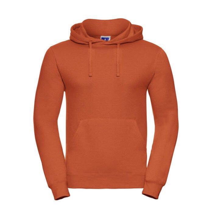 russell heren hoodie sweater 260gr m2 oranje