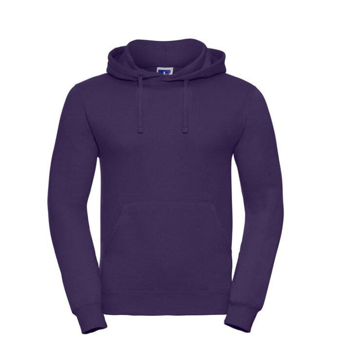 russell heren hoodie sweater 260gr m2 paars