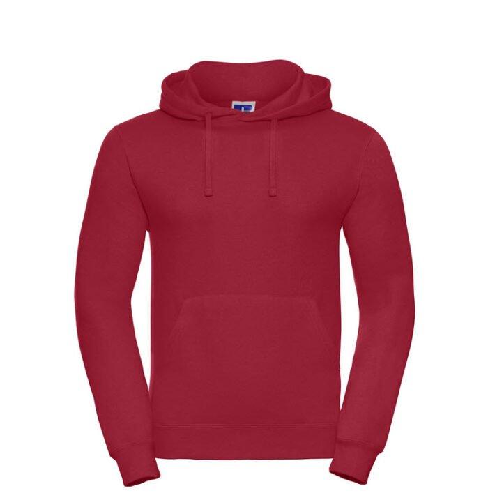 russell heren hoodie sweater 260gr m2 rood