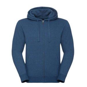 russell heren hoodie vest 280gr m2 blauw