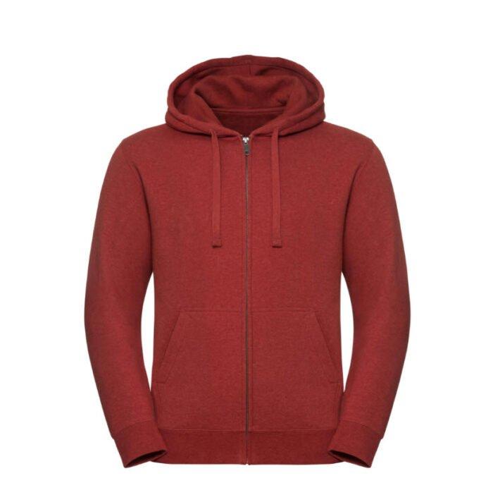 russell heren hoodie vest 280gr m2 rood