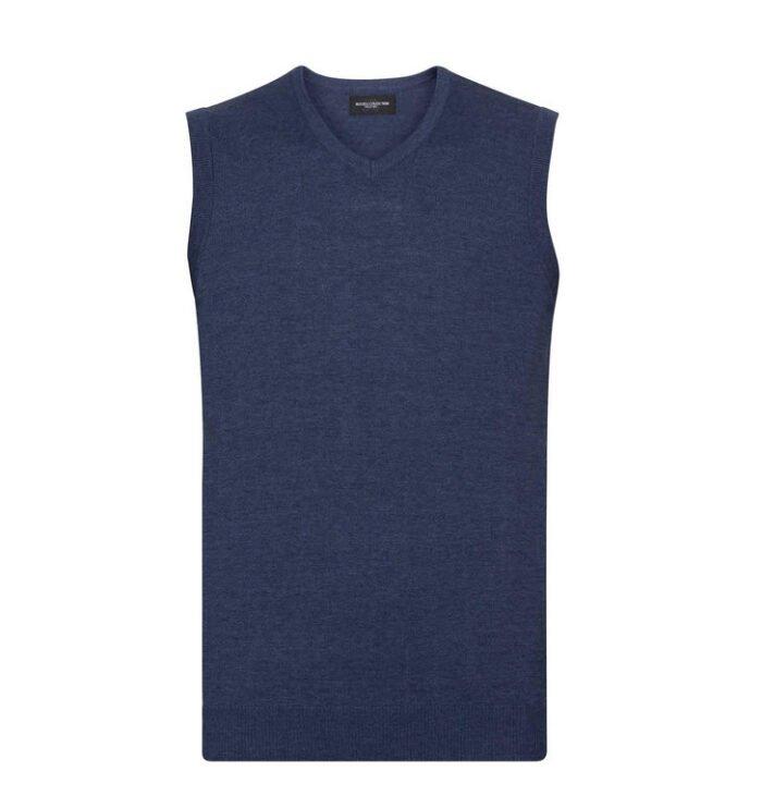 russell pullover, spencer v hals blauw