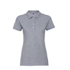russell stretch dames fit polo shirt 205g m2 l grijs