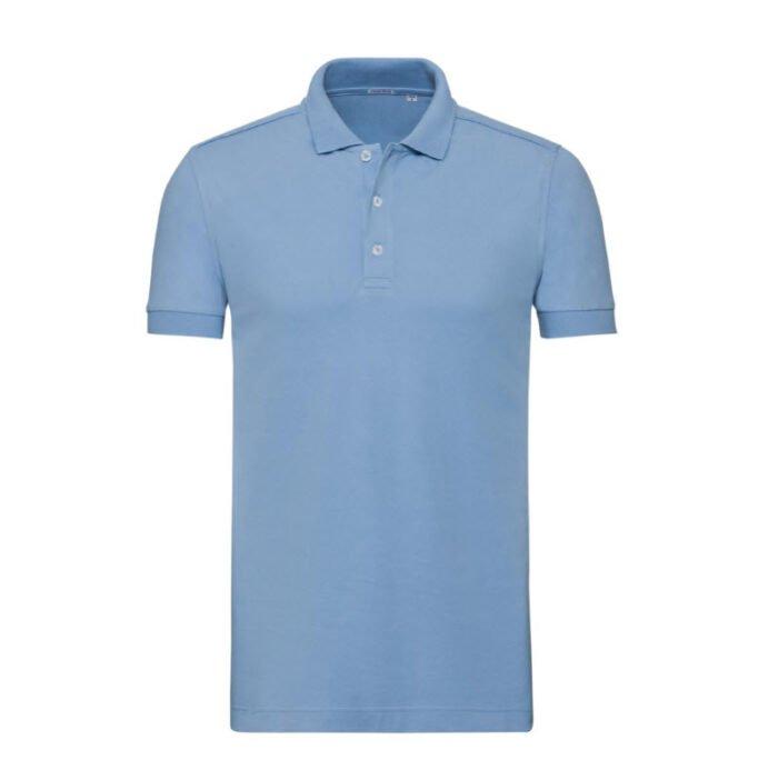russell stretch fit polo shirt 205g m2 l blau