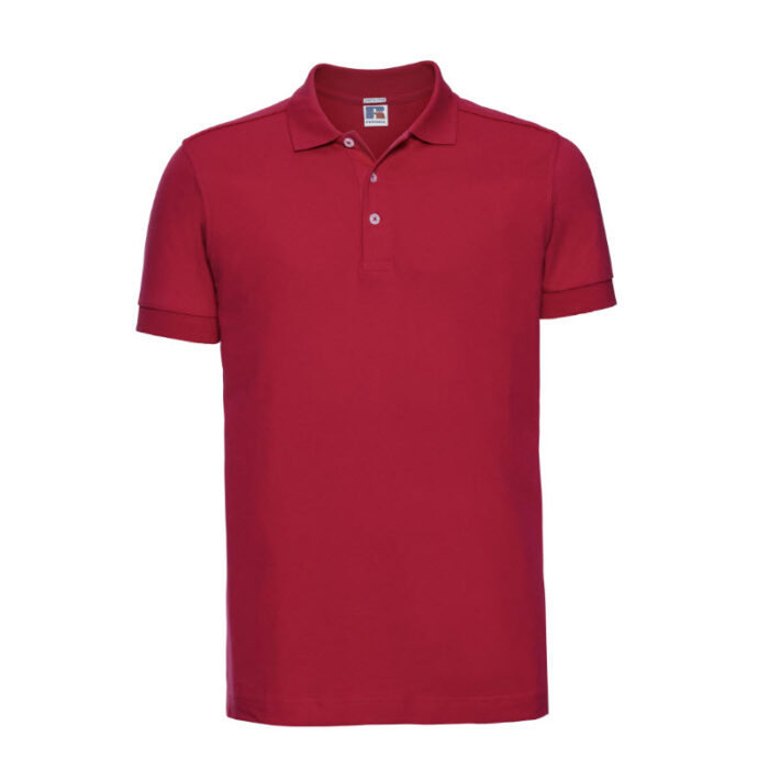 russell stretch fit polo shirt 205g m2 rood