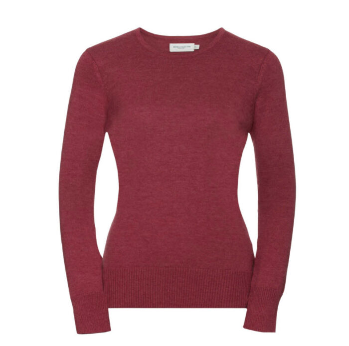 russell dames pullover met ronde hals rood