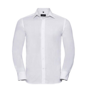 russell overhemd, blouse oxfort lange mouw wit
