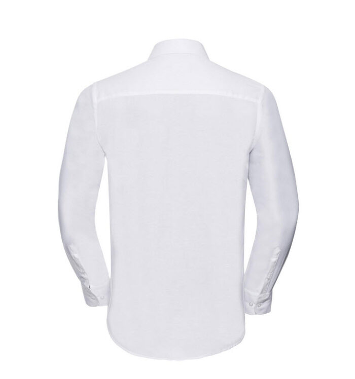 russell overhemd, blouse oxfort lange mouw wit b