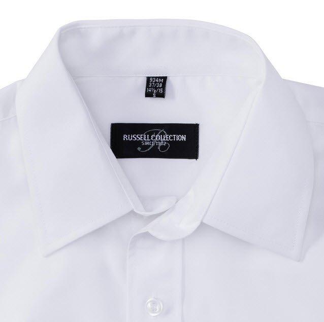 russell overhemd, blouse poplin lange mouw wit c