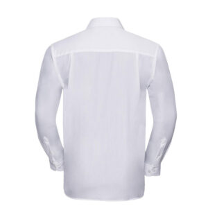 russell overhemd, blouse poplin lange mouw wit b
