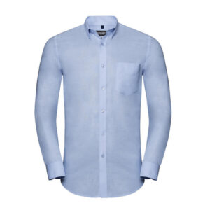 russell overhemd, blouse drukknoop oxford l blauw