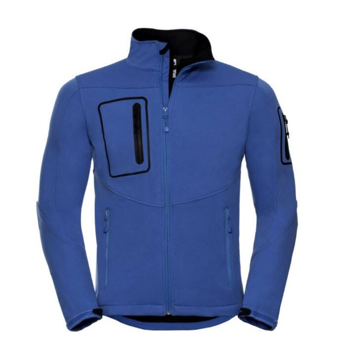 russell sport shell jack (waterproof 5000) blauw