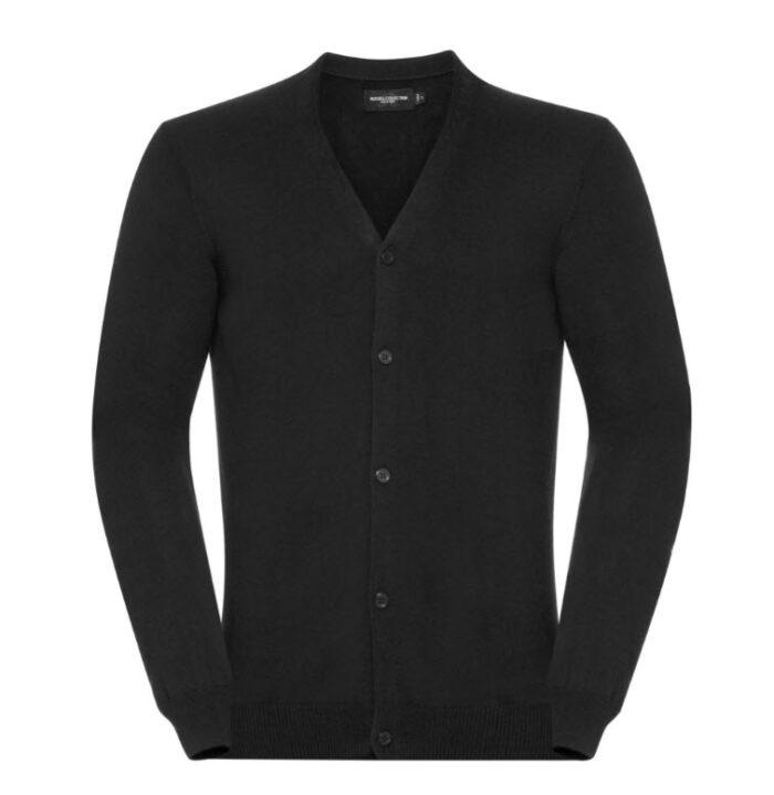 russell vest, met v hals en knoopjes zwart