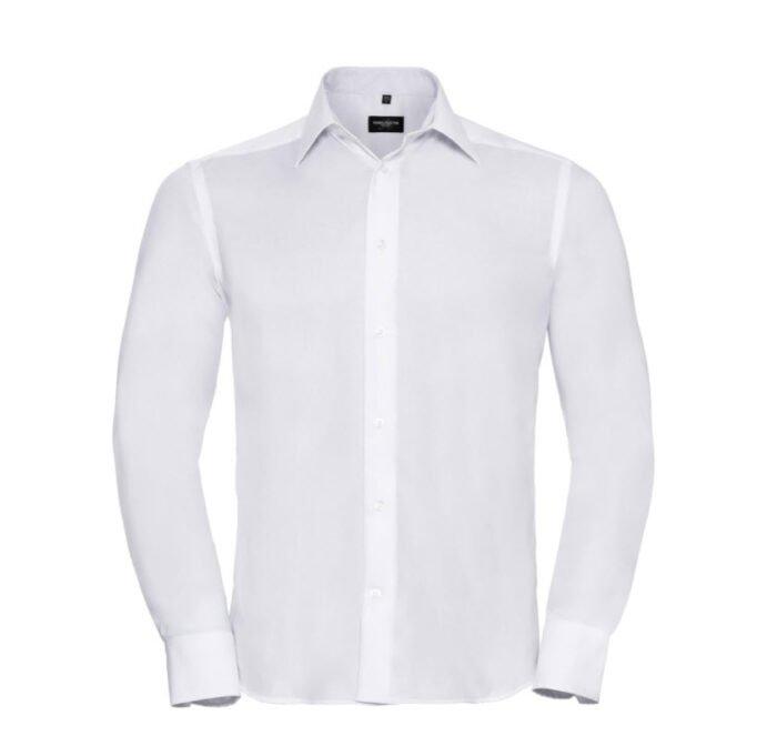 russell zakelijk overhemd, kreukvrij wit
