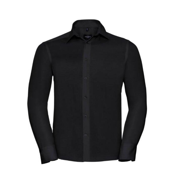 russell zakelijk overhemd, kreukvrij zwart