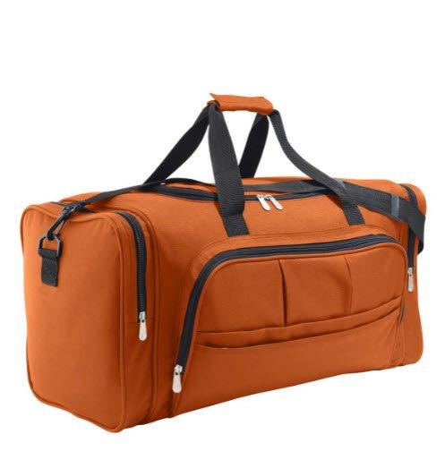 sol`s week0end tas met veel zakken polyester oranje