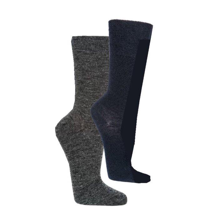 comfort zakelijk wollen sokken met band (2 paar)