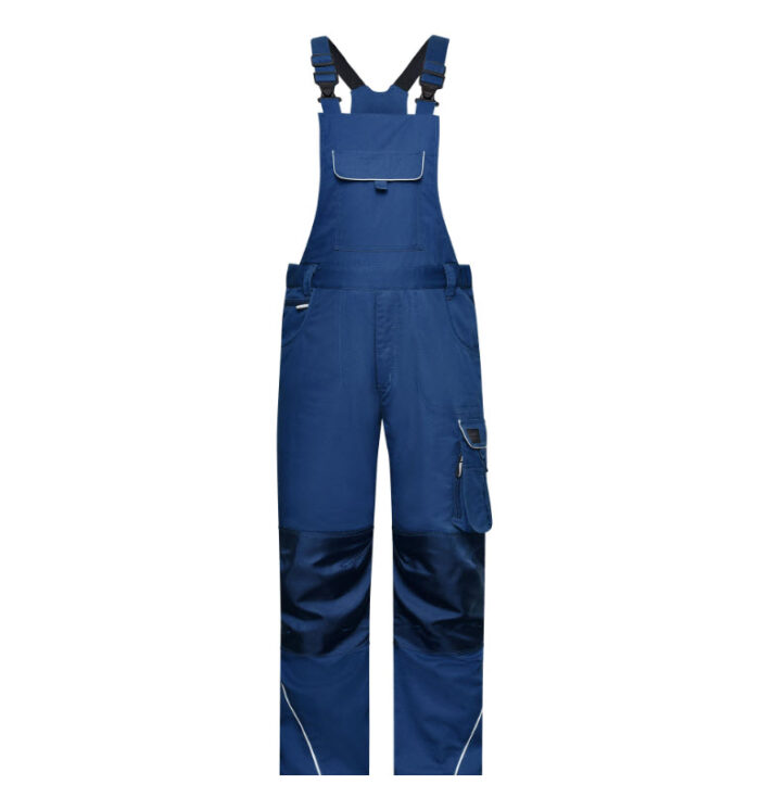 james & nicholson solid amerikaanse overall tuinbroek jn879 korenblauw