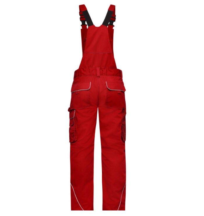 james & nicholson solid amerikaanse overall tuinbroek jn879 rood 2
