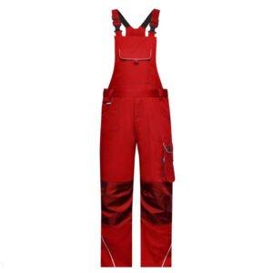 james & nicholson solid amerikaanse overall tuinbroek jn879 rood
