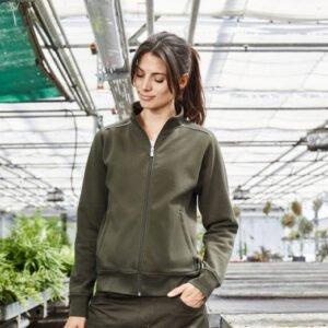 james & nicholson solid sweater jas met rits jn893 dames 0