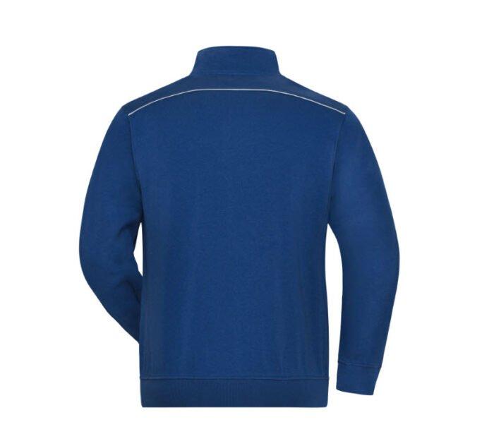 james & nicholson solid sweater jas met rits jn894 heren korenblauw 1